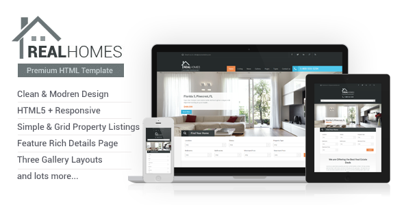 real homes html template by inspirythemes themeforest