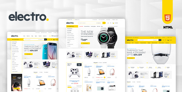 Electro - Electronics eCommerce HTML Template by madrasthemes ...