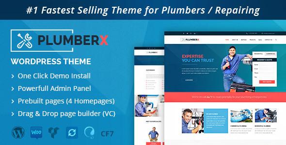 Plumber - Construction and Repairing WordPress Theme by DesignArc ...