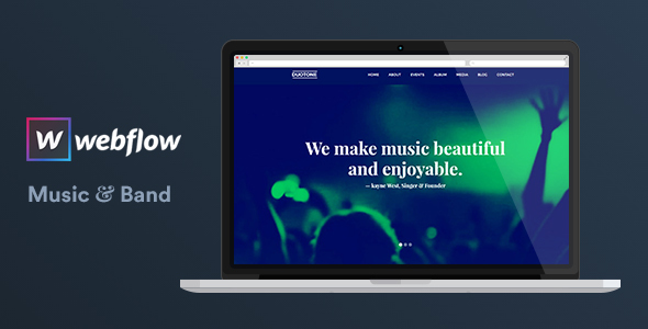 Music & Band Webflow Website Template — Duotone by surjithctly ...