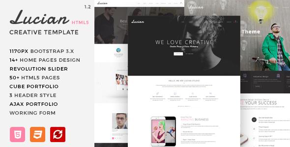 lucian multi concept creative html5 template creative site templates