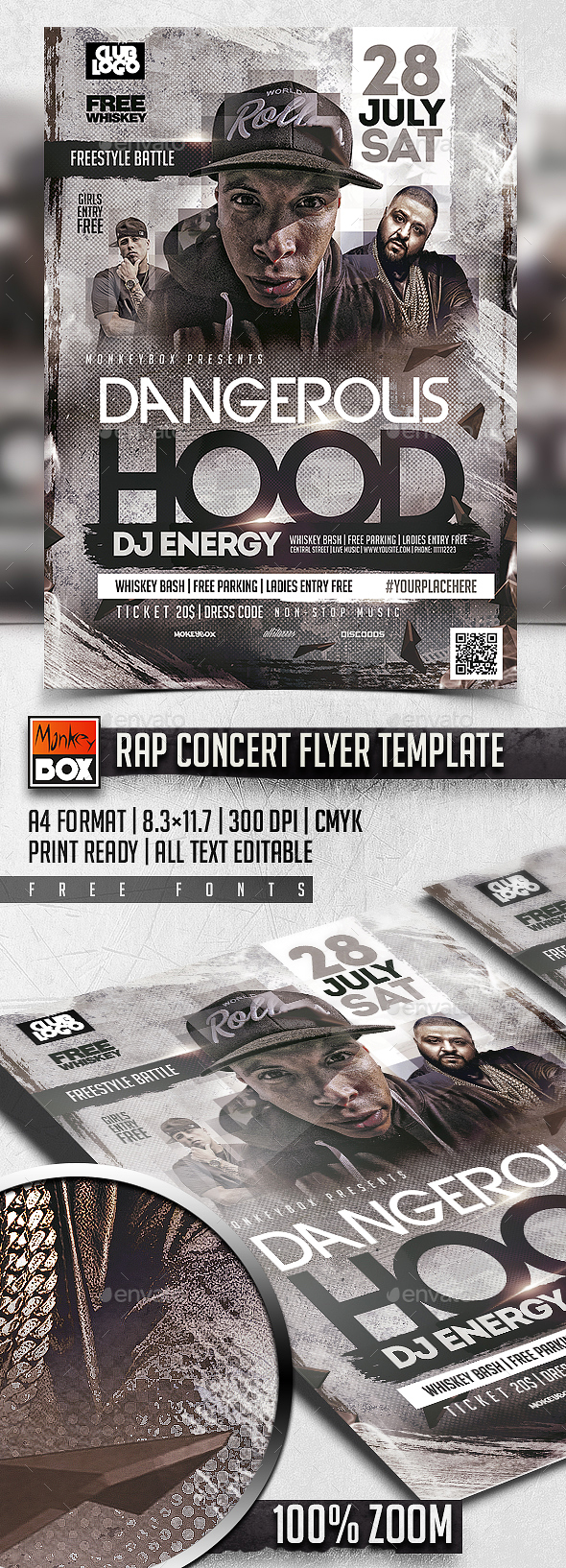 Photoshop concert poster templates