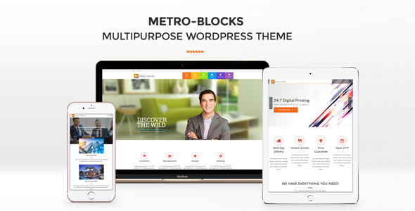 Metro-Blocks - Multi-Business WordPress theme by Mymoun | ThemeForest