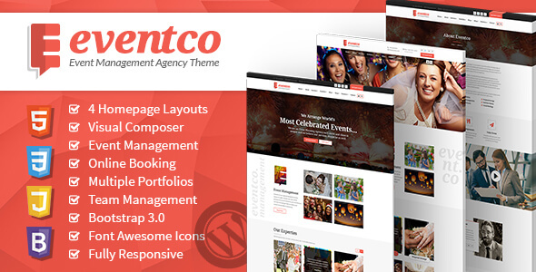 Eventco - Event Management Agency WordPress Responsive Theme by ...