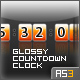 Glossy Countdown Clock - AS3