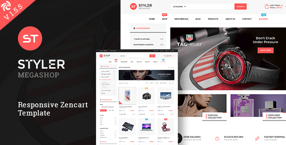 Styler Mega Shop - Responsive Zencart Theme by dasinfomedia ...