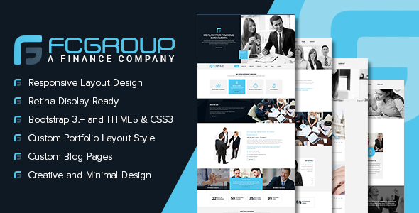 Finance Group - Multi Purpose HTML5 Website Template by designingmedia