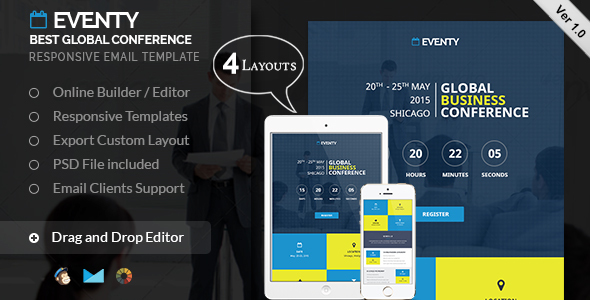 Eventy - Event Email Template by kamleshyadav | ThemeForest
