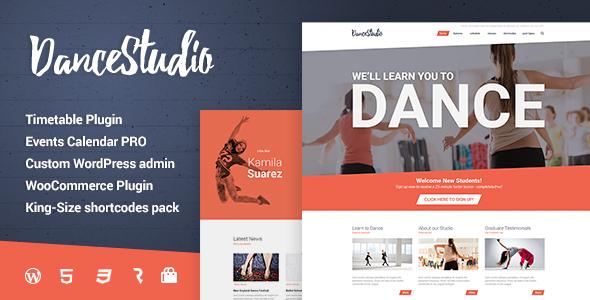 Dance Studio - WordPress Theme for Dancing Schools & Clubs by ...