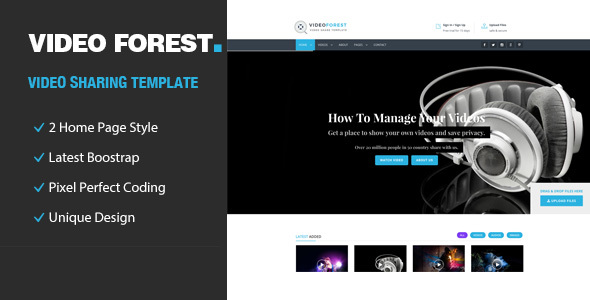 Video forest video html template by templatepath themeforest video forest video html template entertainment site templates maxwellsz