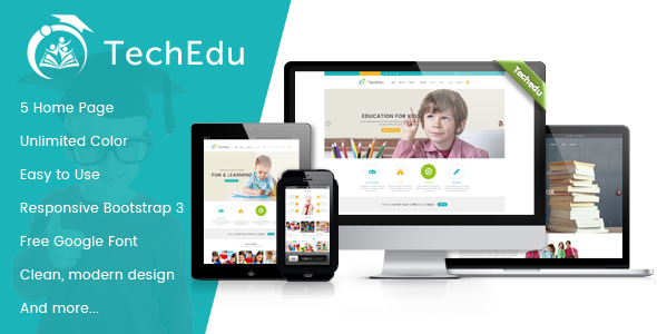 techedu education bootstrap template by power boosts themeforest