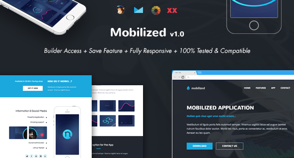Mobilized - Responsive Email + Online Template Builder by DynamicXX