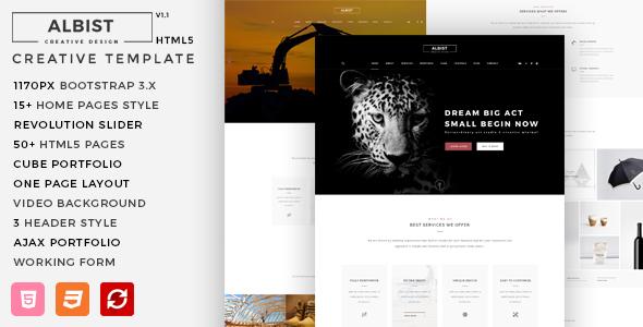 albist creative multipurpose html5 template by m adnan themeforest