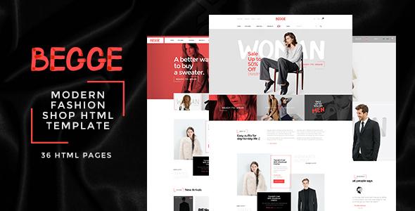 Begge - Modern Fashion Shop HTML Template by ThemeSun | ThemeForest