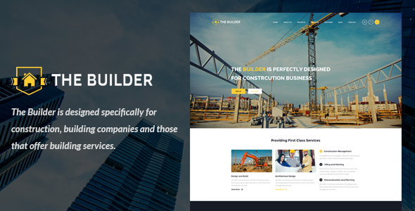 The Builder - Responsive Bootstrap 3 Building & Construction ...