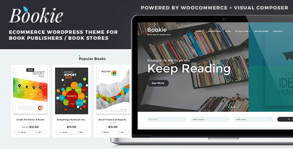 Bookie wordpress theme for books store by tokopress themeforest bookie wordpress theme for books store woocommerce ecommerce fandeluxe Image collections