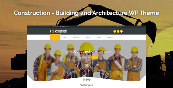 construction building and architecture wordpress theme by