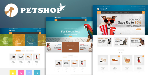 Petshop: A Creative WooCommerce theme for Pets and Vets by kayapati