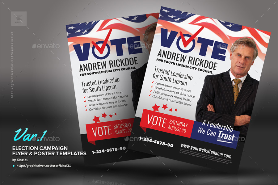 Election poster template free download