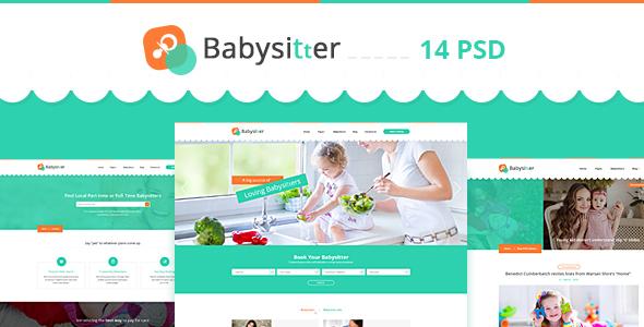 babysitter directory babysitting psd template by diadea3007