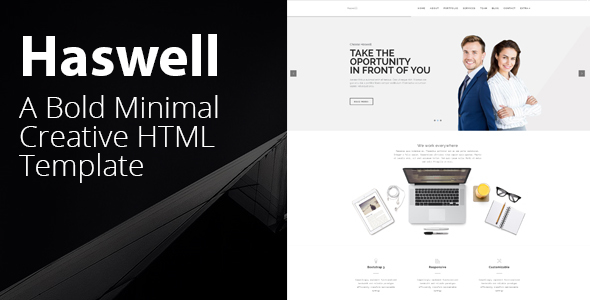 Haswell - Agency & Portfolio HTML Parallax Template by theme_lite ...