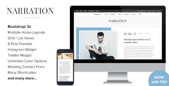 Narration - A Responsive WordPress Blog Theme by imithemes | ThemeForest