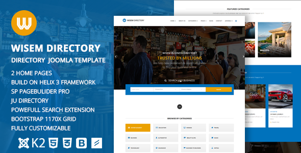 Wisem responsive directory template for joomla by dasinfomedia wisem responsive directory template for joomla miscellaneous joomla accmission Choice Image