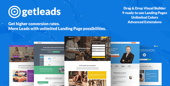 Getleads HighPerformance Landing Page WordPress Theme By XpeedStudio - Wordpress landing page template