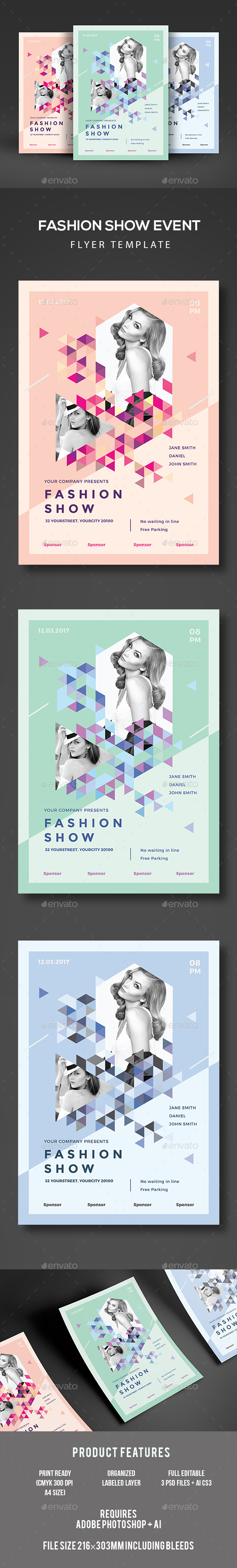 Fashion show flyer templates 6