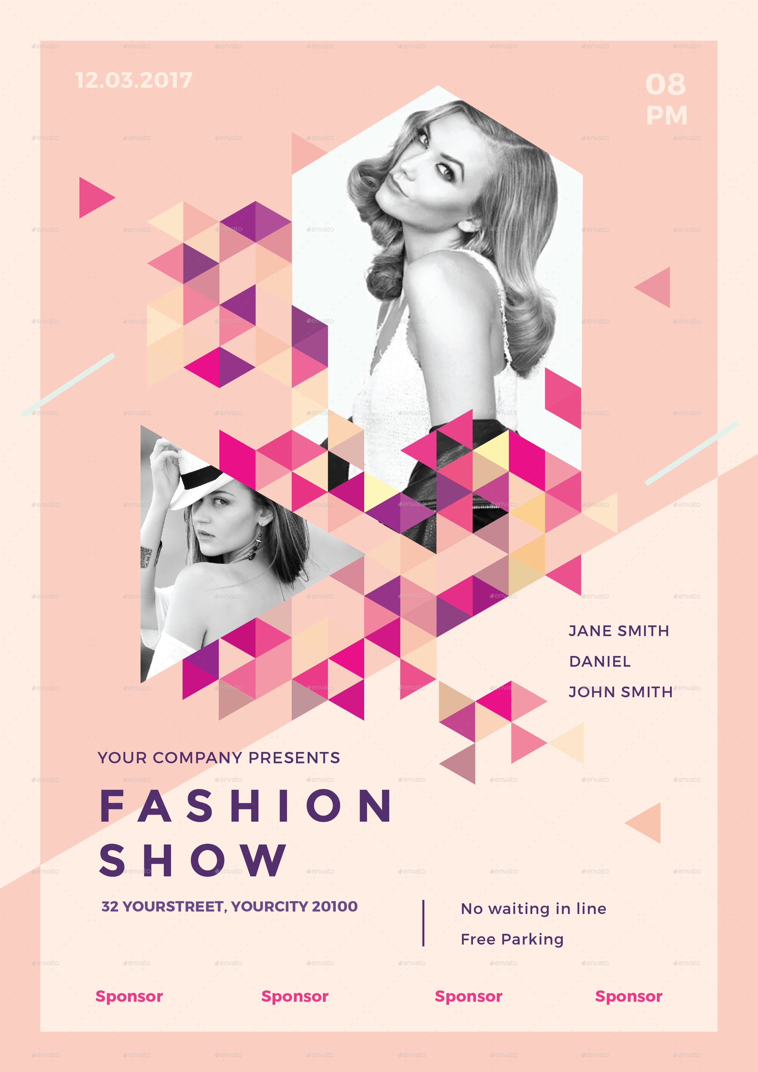 Fashion show flyer templates 84