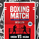 Boxing Match Flyer-Graphicriver中文最全的素材分享平台