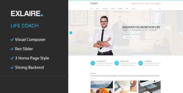 Exclaire – Personal Development Coach WordPress Theme by template_path