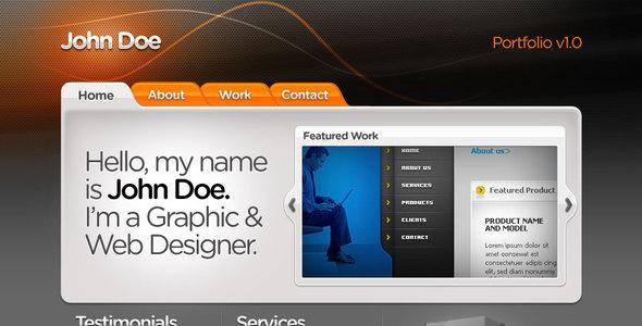 Web Designer Portfolio HTML+CSS+PSD by kaisersosa | ThemeForest