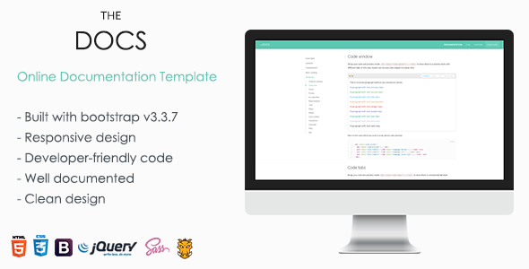 Nice ThemeForest  End User Documentation Template