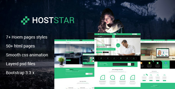 Hoststar Responsive Web Hosting Website Template by codedesigner ...