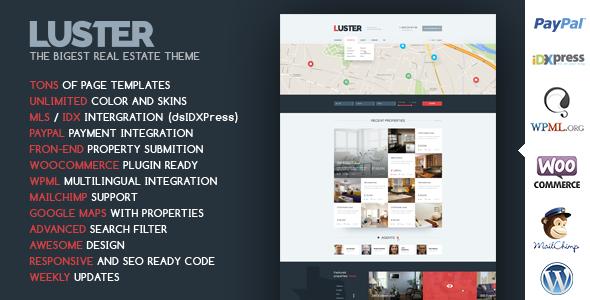Luster - The Biggest Real Estate WordPress Theme by CRIK0VA ...