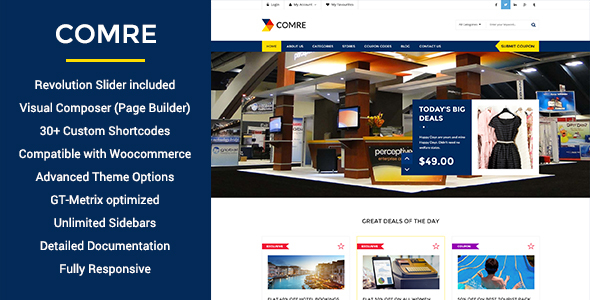 Comre - Coupon Codes & Affiliates WordPress Theme by WPmines ...