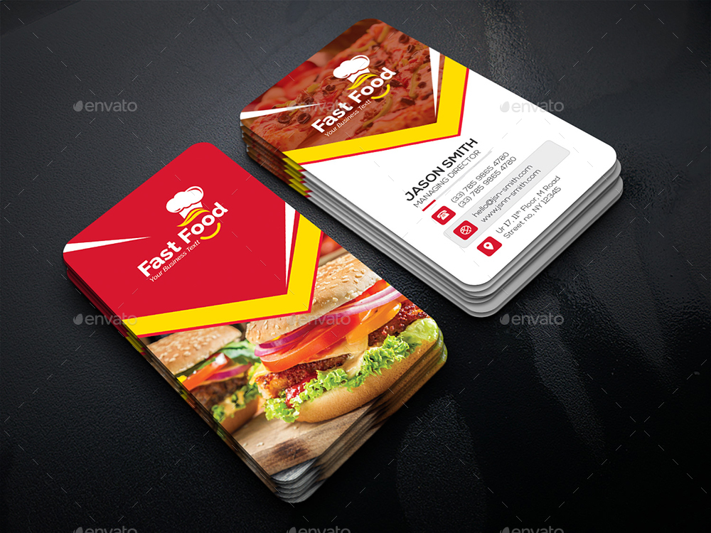Fast Food Business Card By Generousart Graphicriver