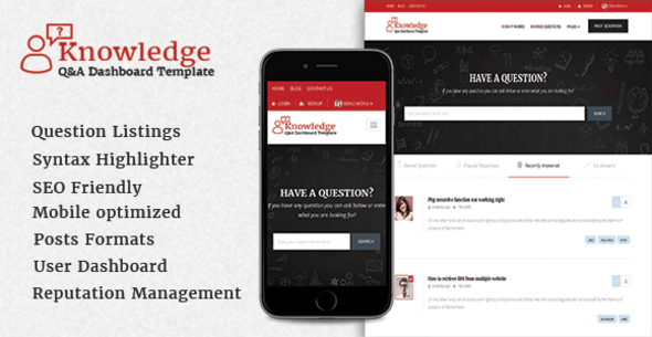 knowledge questions answers template by scriptsbundle themeforest