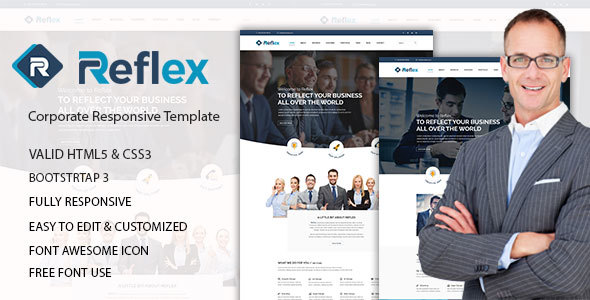 Reflex corporate html5 template by devitems themeforest reflex corporate html5 template corporate site templates accmission Image collections