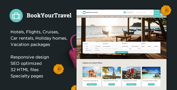 Book Your Travel - Online Booking HTML Template by themeenergy ...