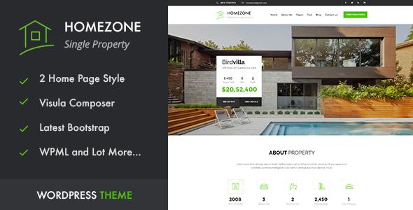 Home Zone Single Property Real Estate WordPress Theme Real Estate WordPress