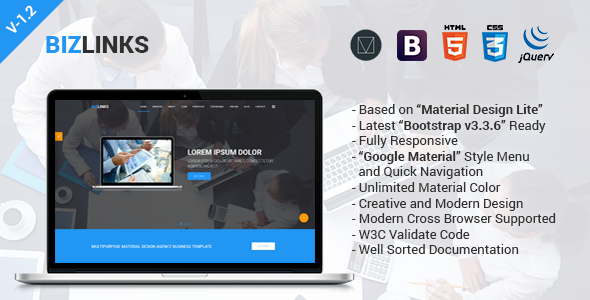 Quick Html Template | Bizlinks Multipurpose Business And Agency Html Template By Themelooks
