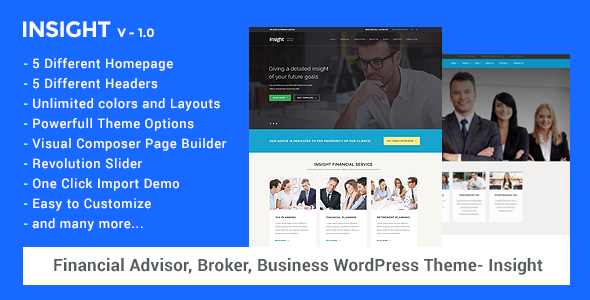 Financial advisor business wordpress theme insight by oceanthemes financial advisor business wordpress theme insight miscellaneous wordpress accmission Images