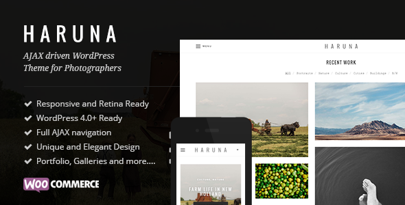Haruna - AJAX Photography WordPress Theme by nagaemas | ThemeForest