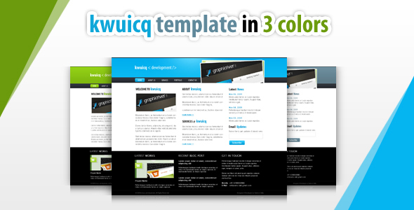 kwuicq html corporate template - 3 colors by settysantu | ThemeForest