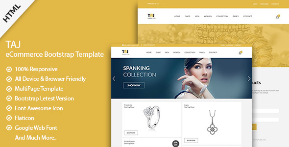 taj responsive ecommerce bootstrap template by devitems themeforest. Black Bedroom Furniture Sets. Home Design Ideas