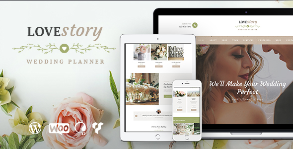 Love Story Wedding and Event Planner by ThemeREX ThemeForest