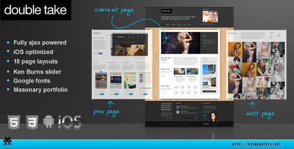 doubletake ajax html5 portfolio business template by pixelentity themeforest. Black Bedroom Furniture Sets. Home Design Ideas