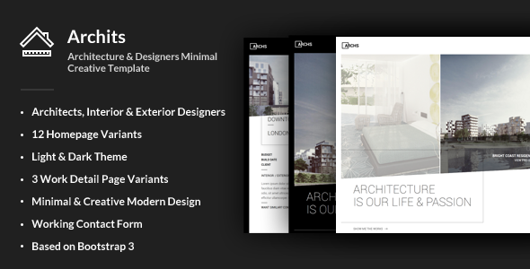 Archits Responsive Architecture Template by ThemeStarz ThemeForest